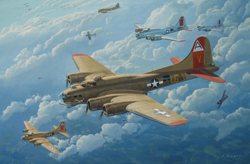 Heyen Steven. Бомбардировщик B-17G.