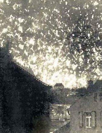 Пожары в городе. 14 февраля 1945 г.