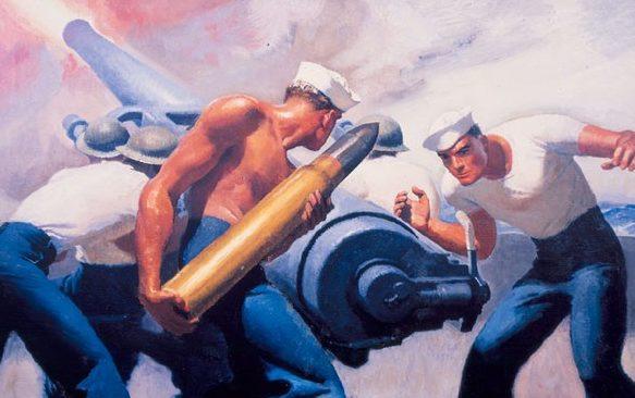 Barclay McClelland. Заряжание орудия.