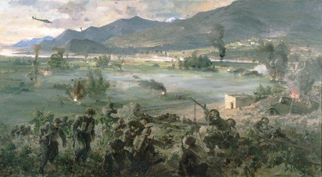 Norton Frank. Боевые действия в долине Tempe. Греция.