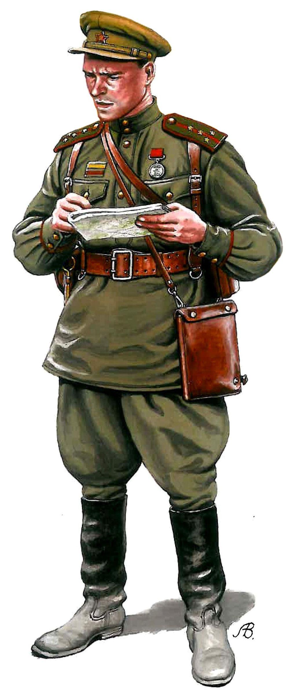 Bulczynki Arnold. Советский офицер.