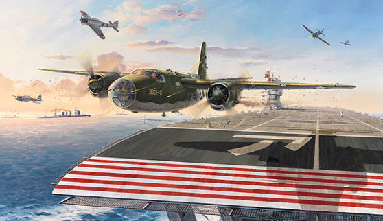 Grinell Roy. Взлет B-26 Marauder.