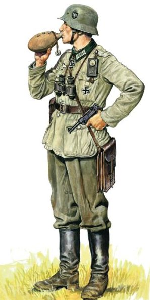 Szyzsko Marek. Лейтенант Вермахта.