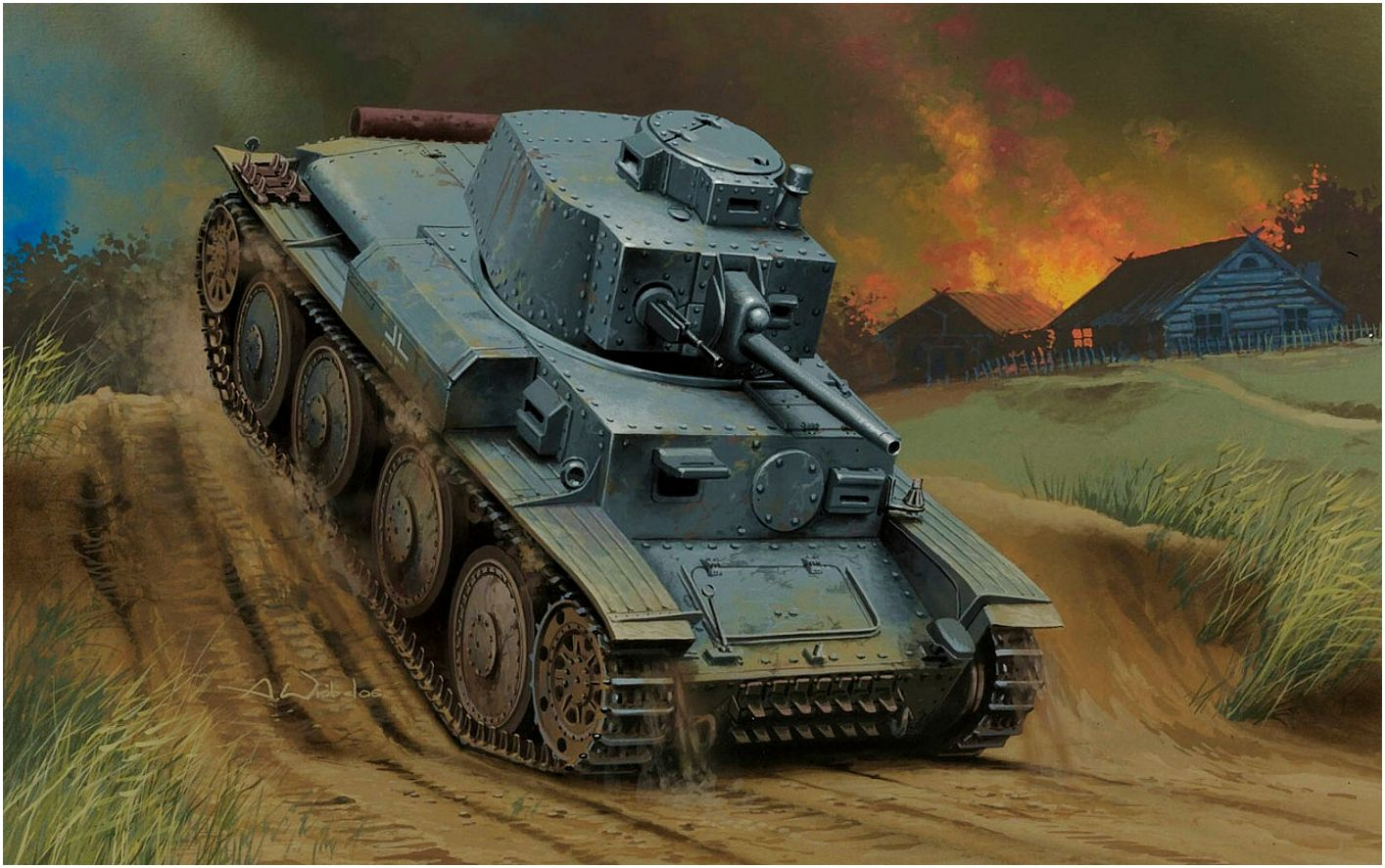 Wróbel Arkadiusz. Танк Pz.Kpfw. 38(t) Ausf. G.