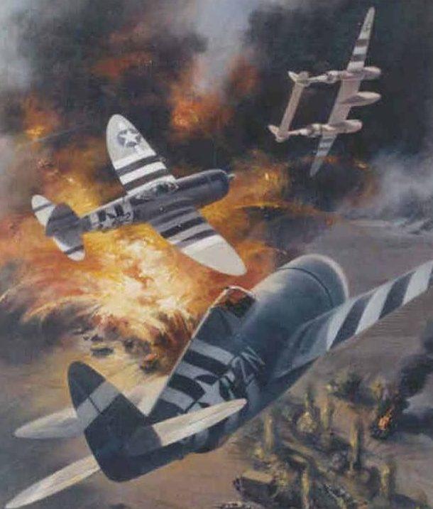 Thompson Charles. Истребители Р-47.