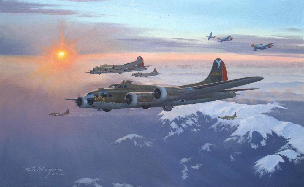 Heyen Steven. Бомбардировщик B-17F.