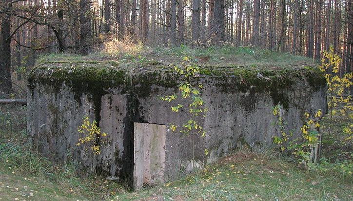 с. Мощун Киево-Святошинского р-на. ДОТ №512 Киевского укрепрайона, построенный в 1929-1932 годах.
