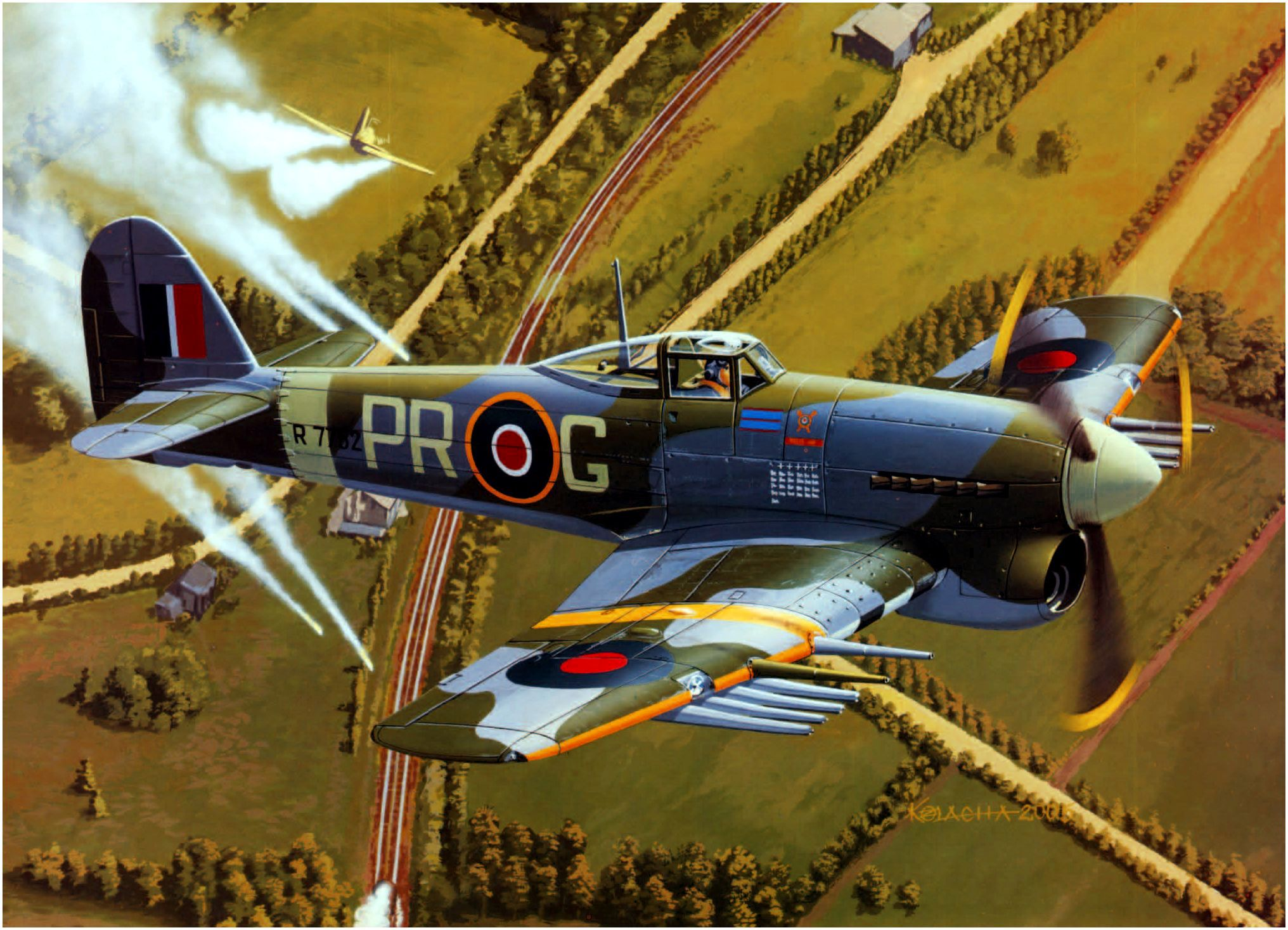 Kolacha Zbigniew. Тяжелый истребитель Hawker Typhoon.