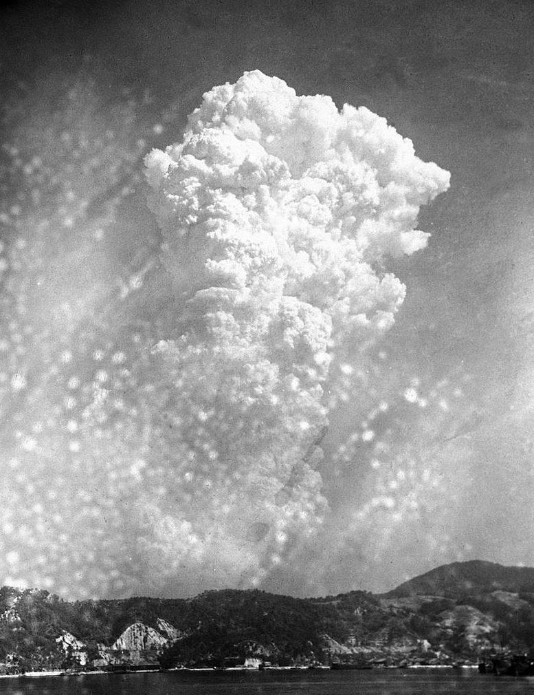 Радиоактивное облако над Хиросимой. 6 августа 1945 г.