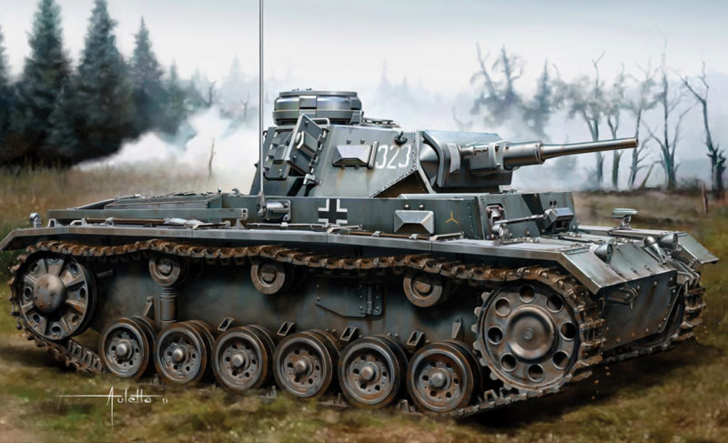 Auletta Vincenzo. Танк Pz.Kpfw. III Ausf. H.