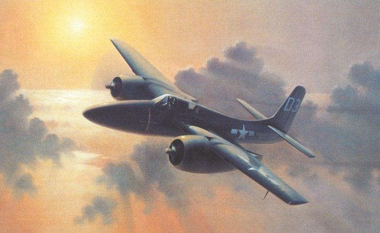 Thompson Charles. Палубный истребитель Grumman F-7F Tigercat.
