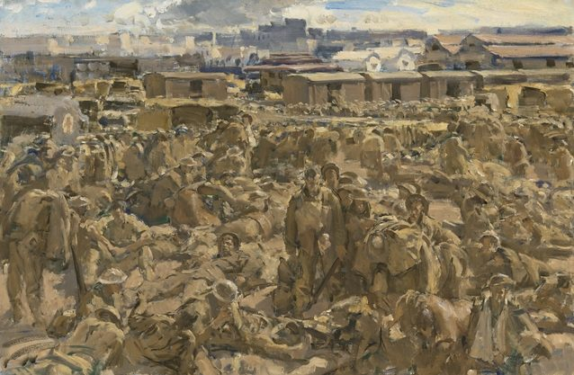Norton Frank. Высадка австралийских войск в Александрии.