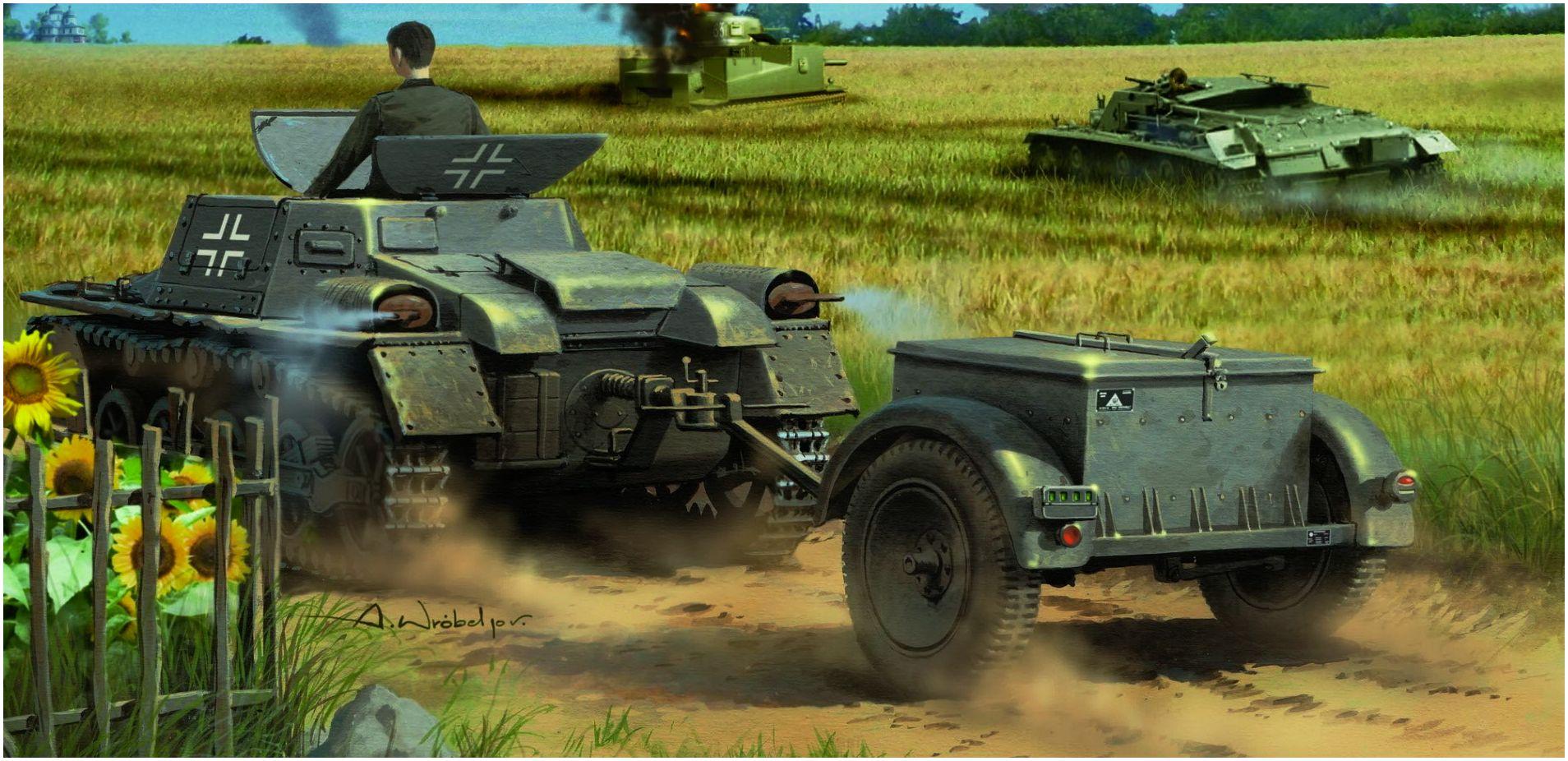Wróbel Arkadiusz. Танк Panzerkampfwagen I Ausf. A .