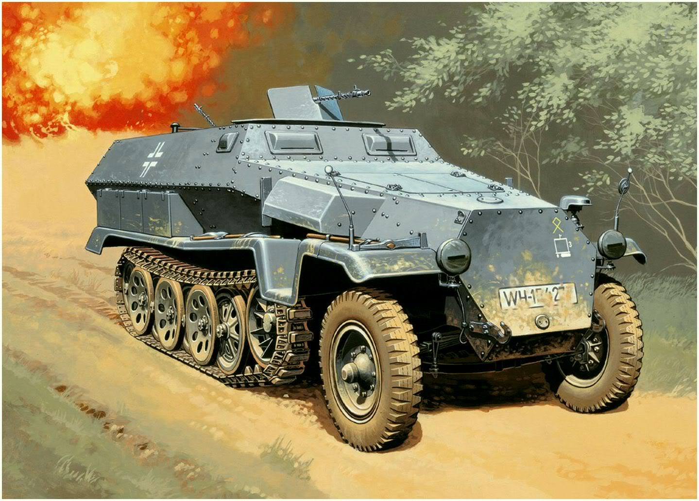 Wróbel Arkadiusz. Полугусеничный бронетранспортер Sd.Kfz. 251.