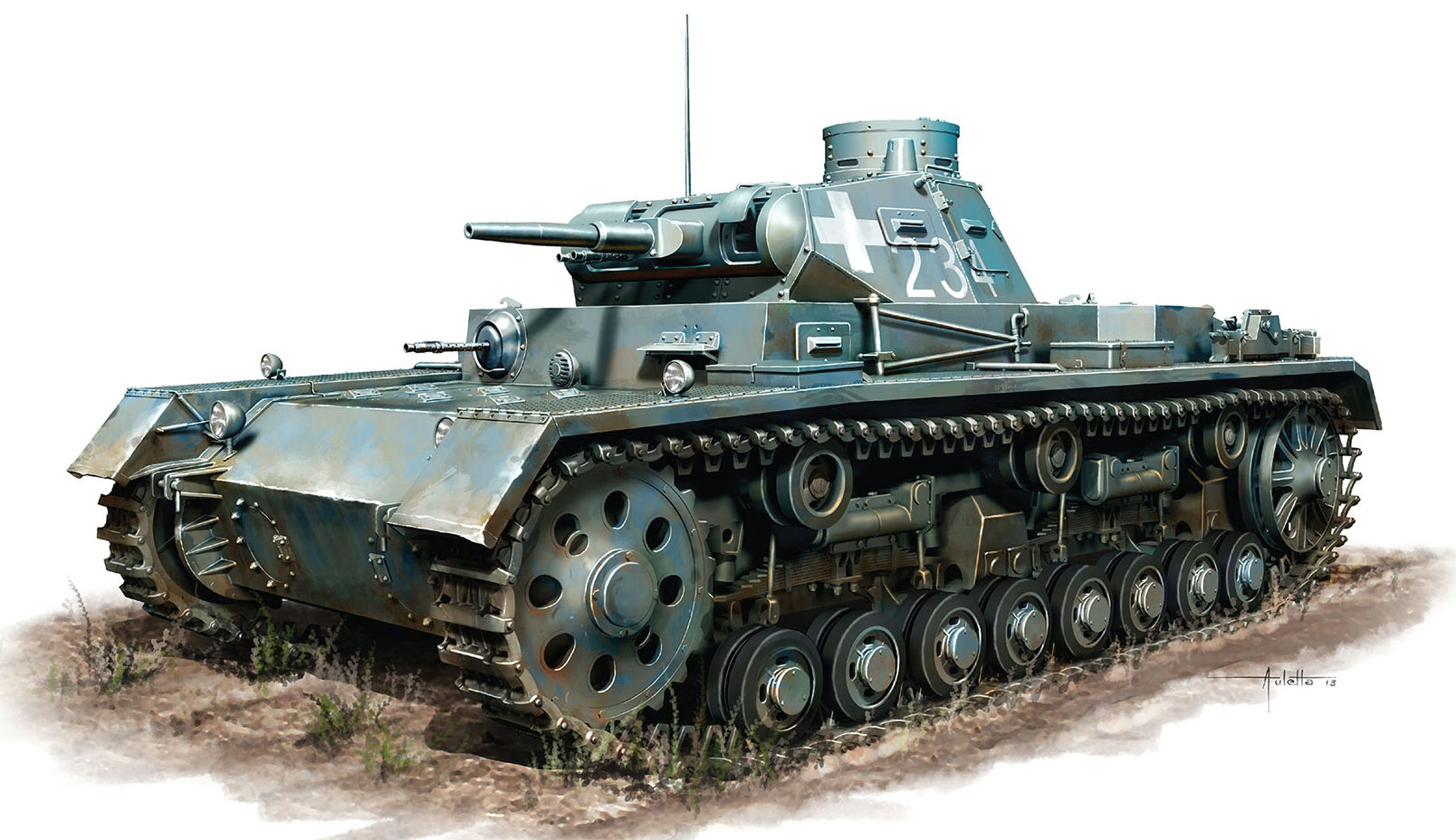 Auletta Vincenzo. Танк Pz.Kpfw. III Ausf. B.