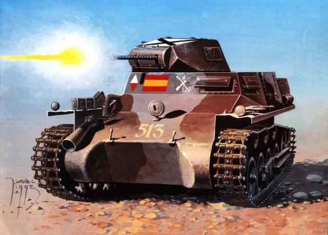 Wróbel Arkadiusz. Танк PzKpfw I.