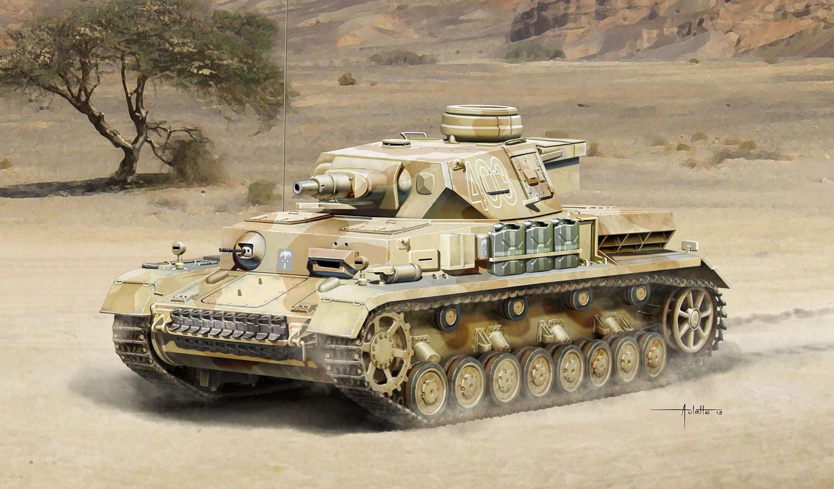 Auletta Vincenzo. Танк Pz.Kpfw.IV Ausf.F1.