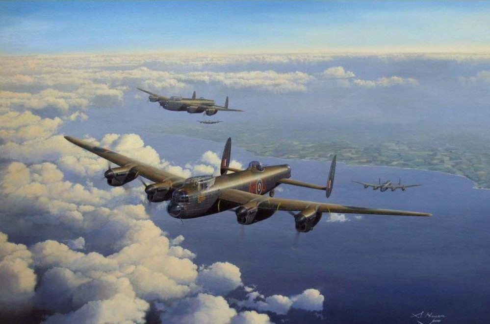 Heyen Steven. Бомбардировщик Lancaster B Mk I.