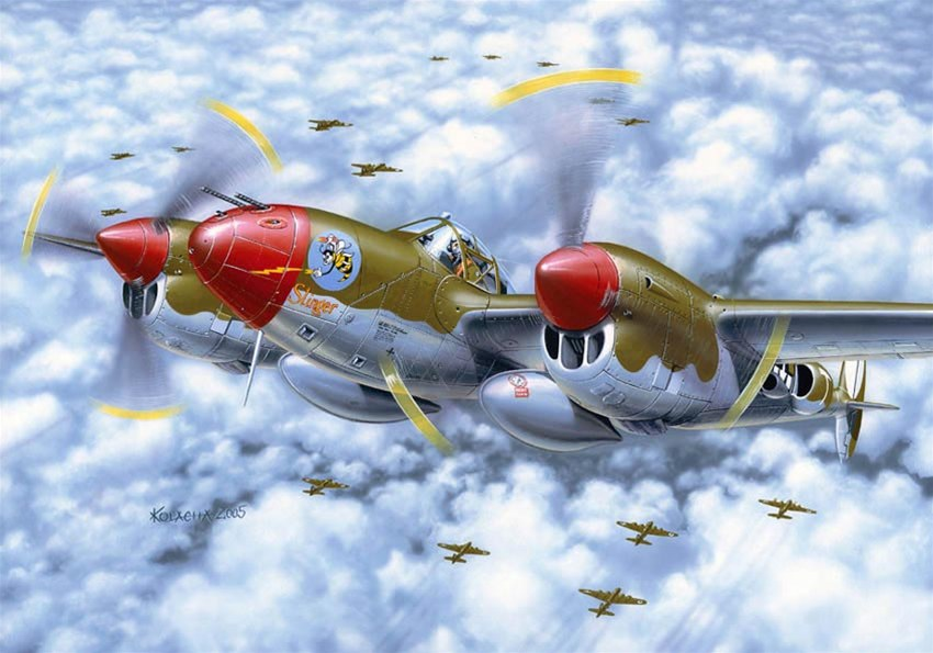 Kolacha Zbigniew. Тяжелый истребитель Lockheed P-38.