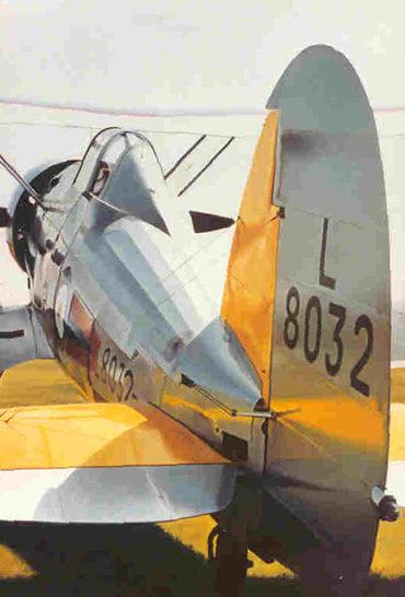 Thompson Charles. Истребитель Gloster Gladiator.