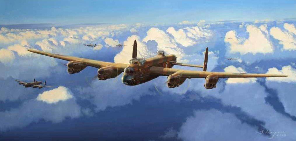 Heyen Steven. Бомбардировщик Lancaster Mk III.