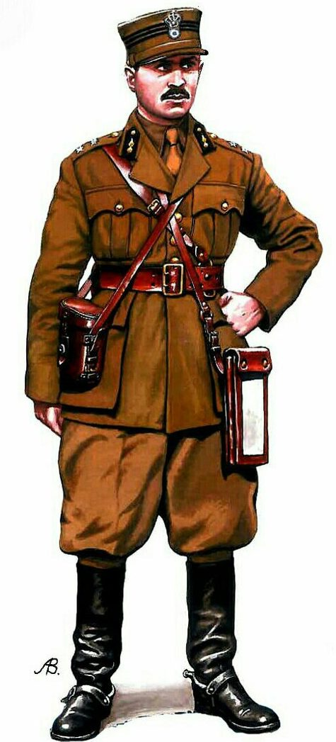 Bulczynki Arnold. Лейтенант-артиллерист Греции.