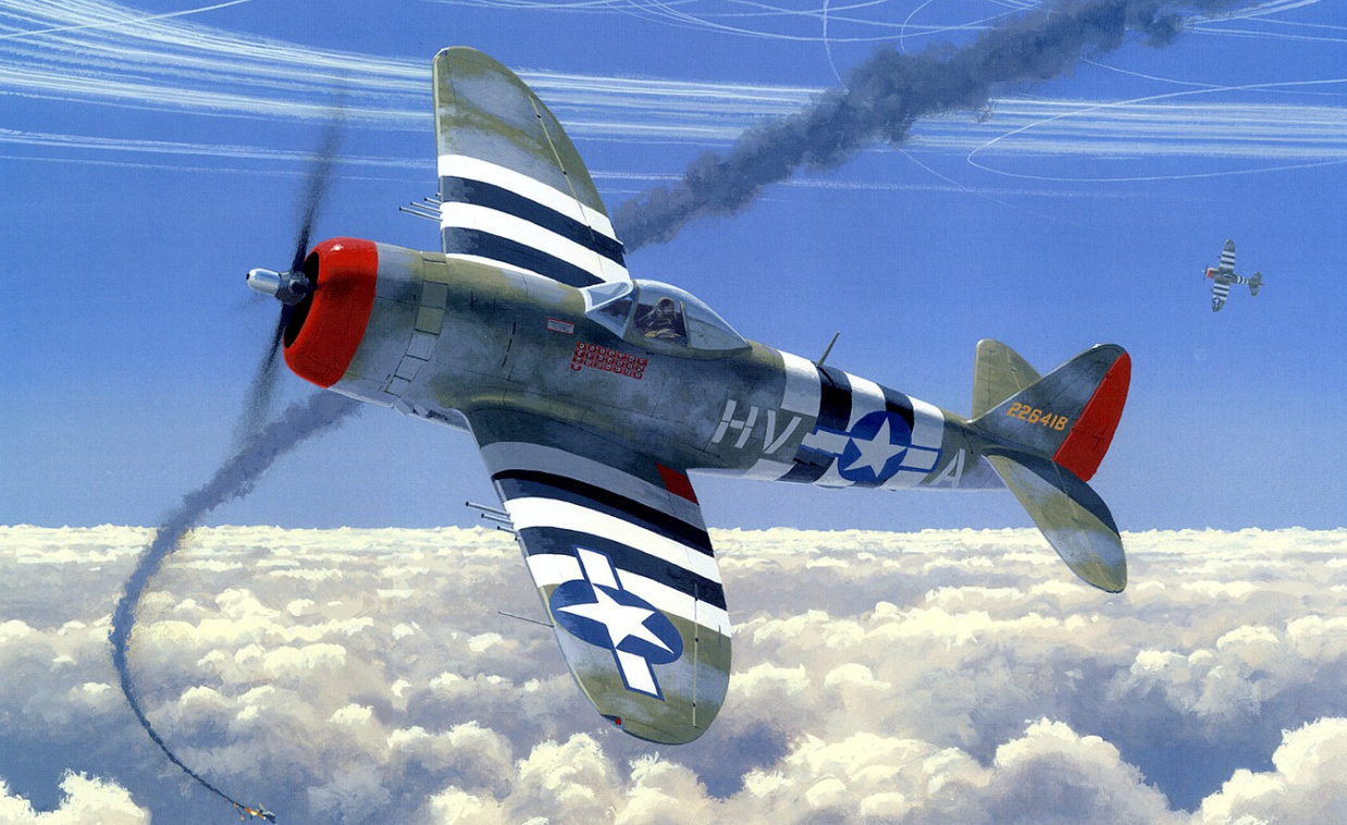 Woodcock Keith. Истребитель P-47D.