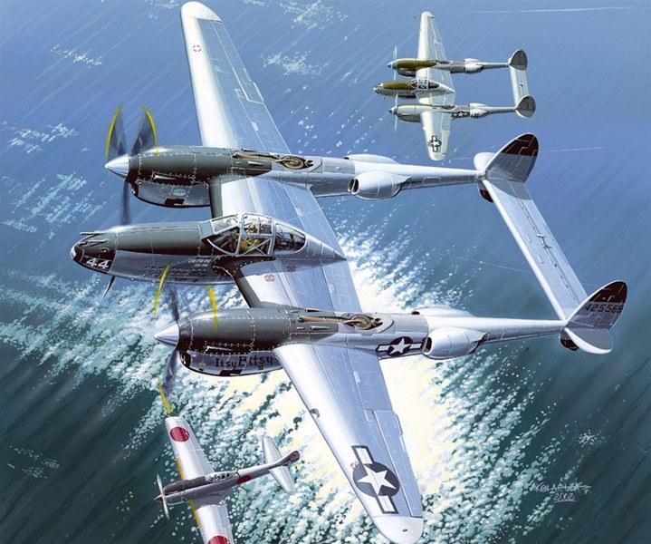 Kolacha Zbigniew. Тяжелый истребитель Lockheed P-38L.