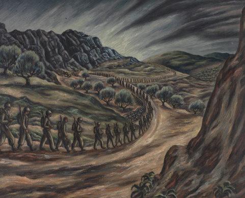 Andreson Carlos. Солдаты на марше.