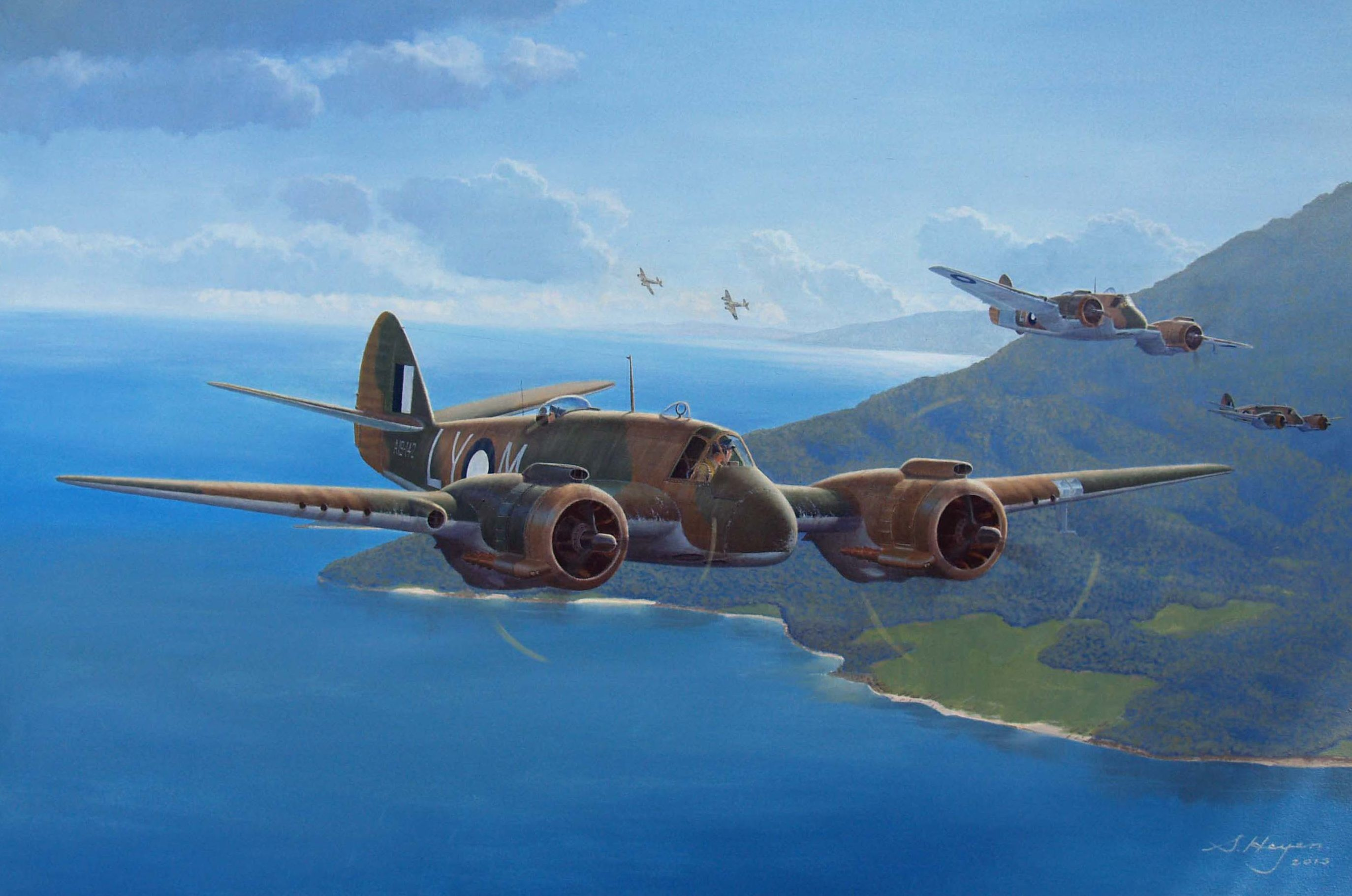 Heyen Steven. Тяжелый истребитель Bristol Beaufighters.