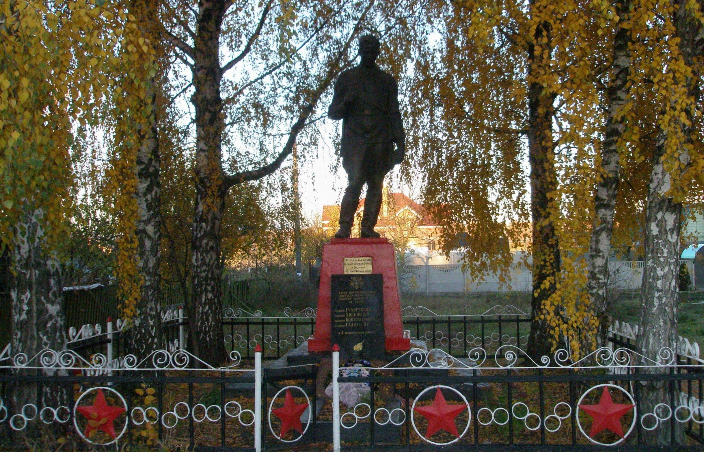 с. Святопетровское Киево-Святошинского р-на. Памятник на братской могиле советских воинов.