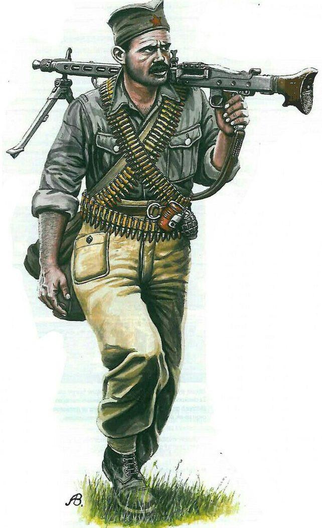 Bulczynki Arnold. Боец Югославской армии.
