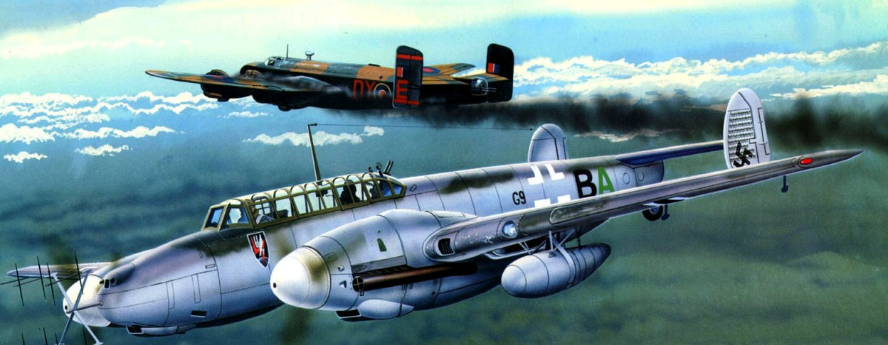 Greer Don. Истребитель Bf-110G.
