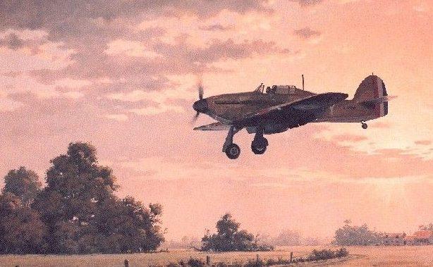 Woodcock Keith. Истребитель Hawker Hurricane Mk.1.