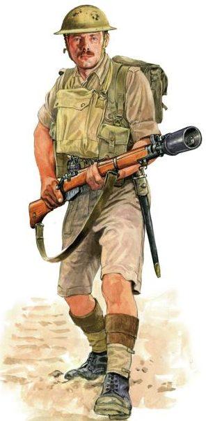 Szyzsko Marek. Британский пехотинец.
