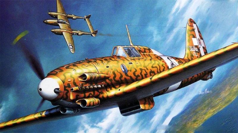 Maio Enzo. Истребитель Macchi C-202.