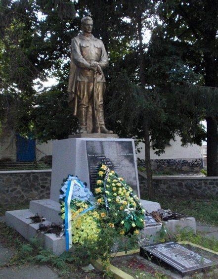 с. Тарасовка Киево-Святошинского р-на. Памятник на братской могиле воинов, погибших в боях за село.