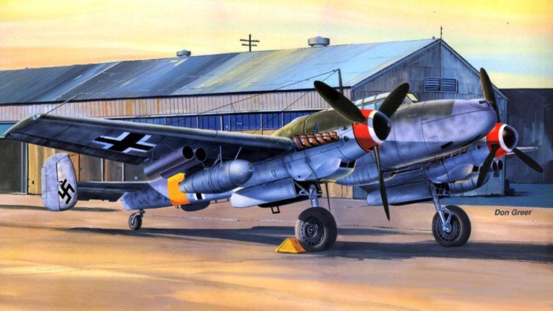 Greer Don. Истребитель Bf-110 G2.