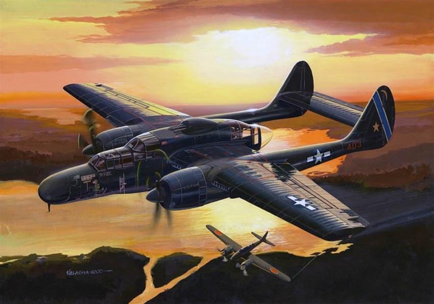 Kolacha Zbigniew. Ночной истребитель Northrop P-61 Black Widow.