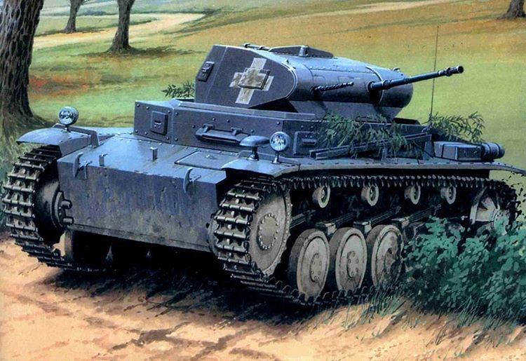 Wróbel Arkadiusz. Танк PzKpfw II.
