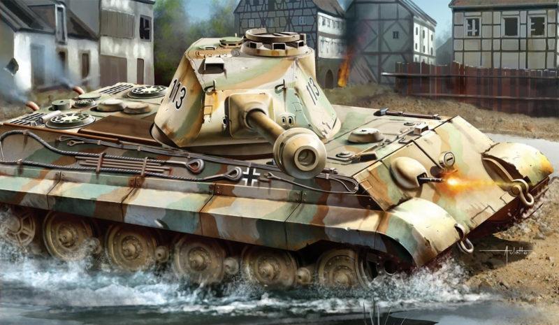 Auletta Vincenzo. Танки Pz.Kpfw. VI Ausf. B Tiger II.