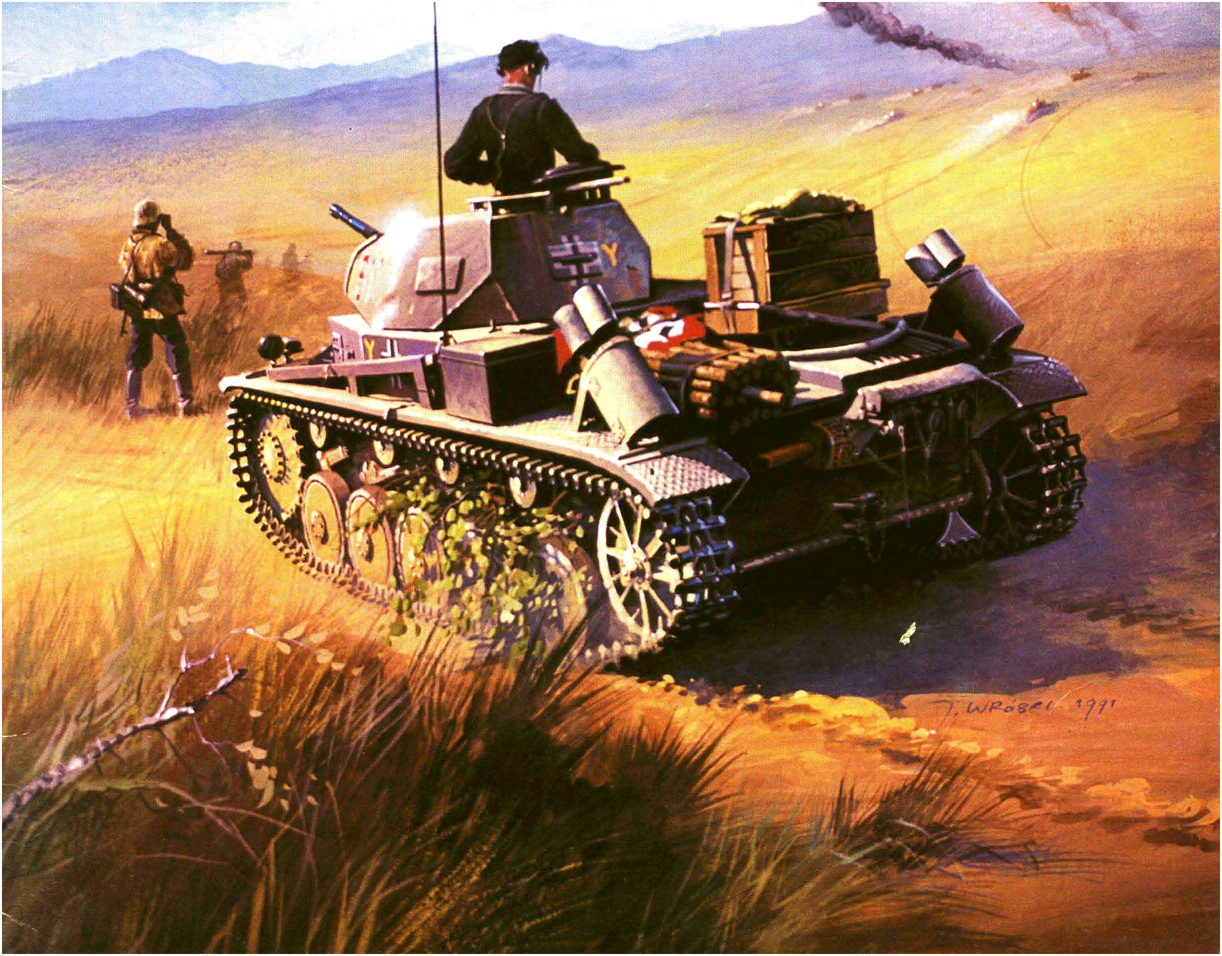 Wróbel Arkadiusz. Танк PzKpfw II Flammpanzer.