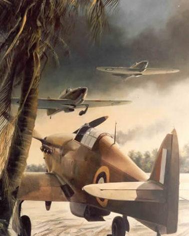 Thompson Charles. Аэродром на Суматре.
