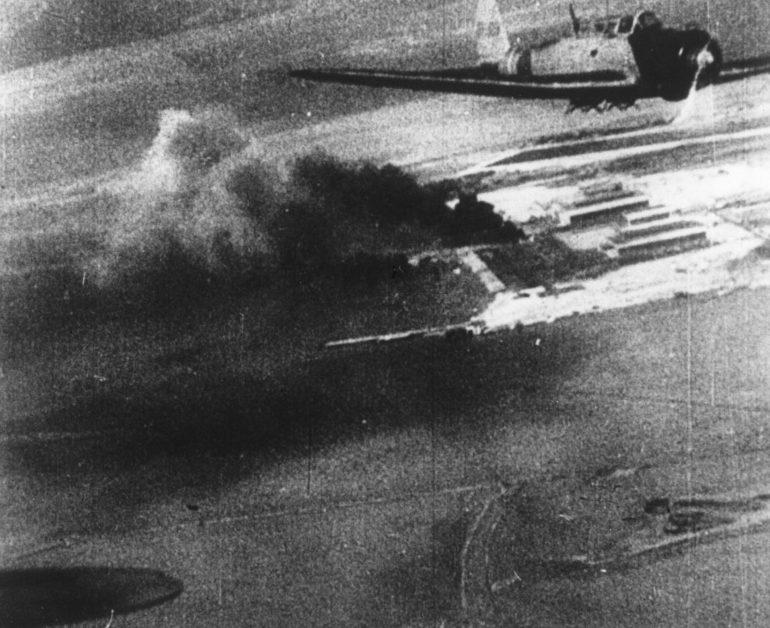 Горящий Перл-Харбор. 7 декабря 1941 г.