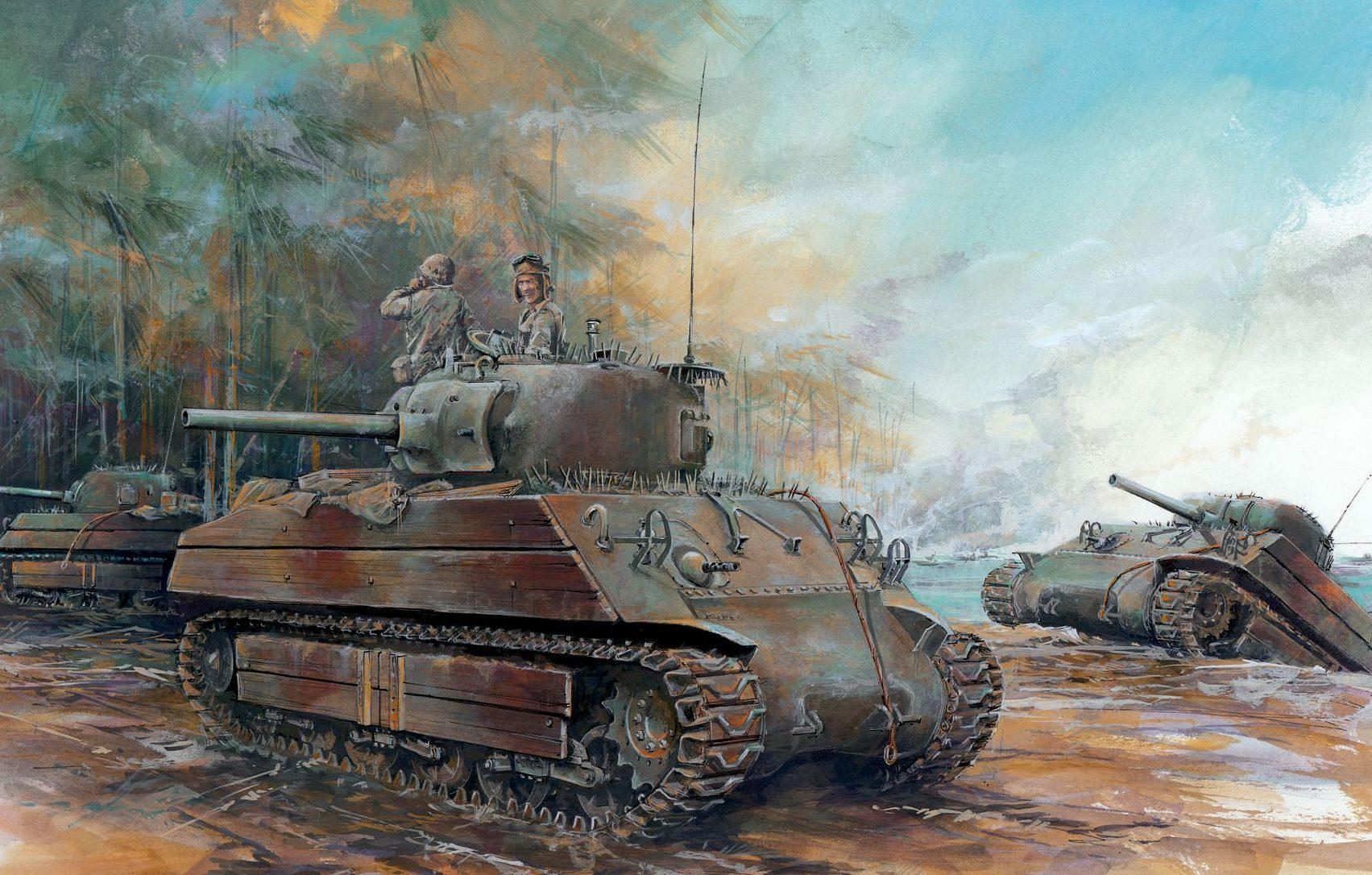 Jameson. Танк M-4A2.