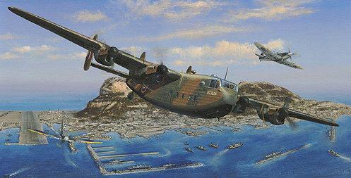 West Philip. Летающая лодка Avro York «Ascalon» с эскортом Spitfire.