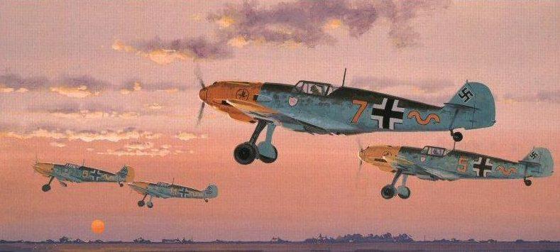 Woodcock Keith. Истребитель Bf-109.