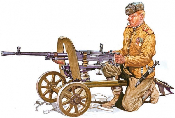 Szyzsko Marek. Советский пулеметчик.