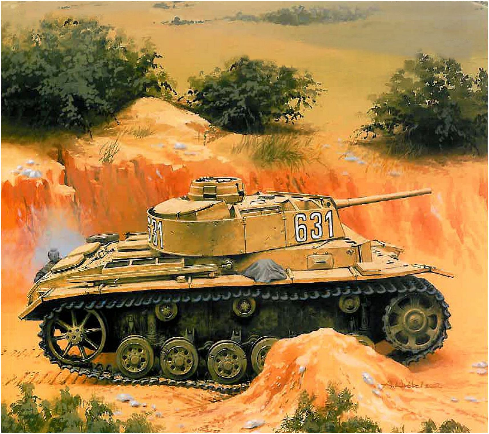 Wróbel Arkadiusz. Танк PzKpfw III.