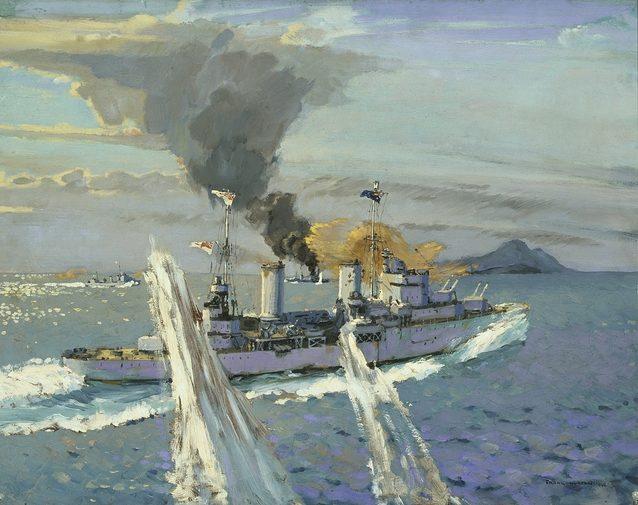 Norton Frank. Бой крейсера «Sydney».
